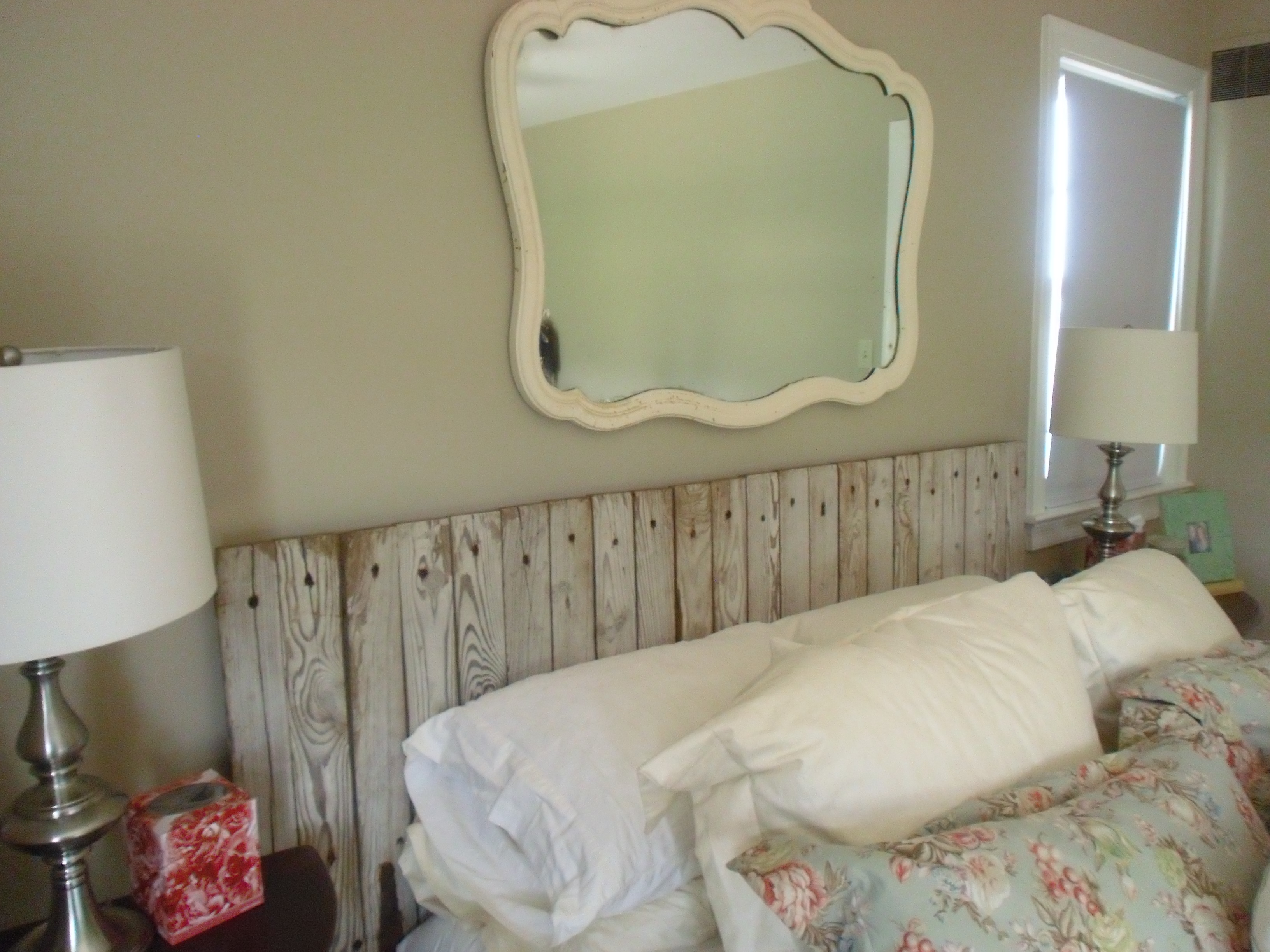 Master bedroom makeover finished for now yankee for Bedroom ideas headboard